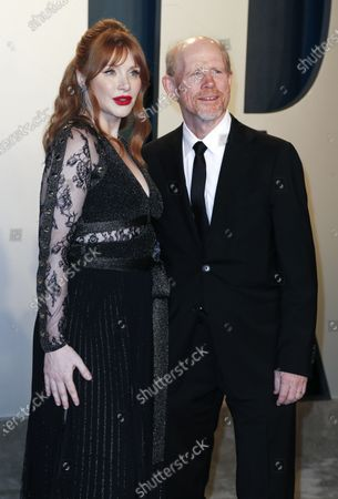 Bryce Dallas Howard and her father, director Ron Howard (R) attend the 2020 Vanity Fair Oscar Party following the 92nd annual Academy Awards ceremony, in Beverly Hills, California, USA, 09 February 2020. The Oscars are presented for outstanding individual or collective efforts in filmmaking in 24 categories.