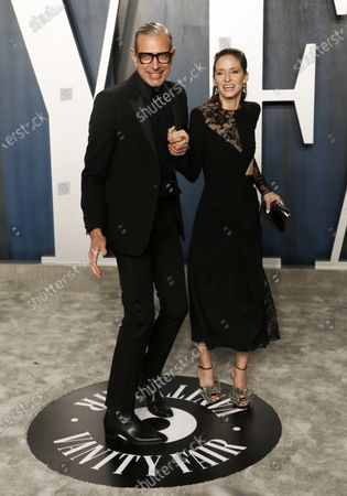 Jeff Goldblum and Emilie Livingston attend the 2020 Vanity Fair Oscar Party following the 92nd annual Academy Awards ceremony, in Beverly Hills, California, USA, 09 February 2020. The Oscars are presented for outstanding individual or collective efforts in filmmaking in 24 categories.