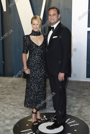 Stock Photo of Kelly Sawyer and Jamie Patricof attend the 2020 Vanity Fair Oscar Party following the 92nd annual Academy Awards ceremony, in Beverly Hills, California, USA, 09 February 2020. The Oscars are presented for outstanding individual or collective efforts in filmmaking in 24 categories.