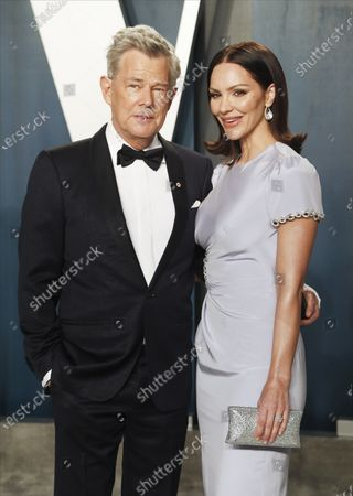 David Foster and Katharine McPhee attend the 2020 Vanity Fair Oscar Party following the 92nd annual Academy Awards ceremony, in Beverly Hills, California, USA, 09 February 2020. The Oscars are presented for outstanding individual or collective efforts in filmmaking in 24 categories.