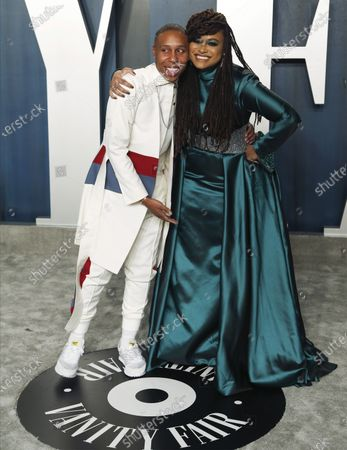 Lena Waithe and Ava DuVernay attend the 2020 Vanity Fair Oscar Party following the 92nd annual Academy Awards ceremony, in Beverly Hills, California, USA, 09 February 2020. The Oscars are presented for outstanding individual or collective efforts in filmmaking in 24 categories.