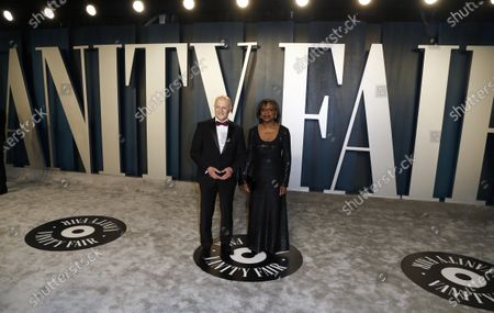Anita Hill and guest attend the 2020 Vanity Fair Oscar Party following the 92nd annual Academy Awards ceremony, in Beverly Hills, California, USA, 09 February 2020. The Oscars are presented for outstanding individual or collective efforts in filmmaking in 24 categories.