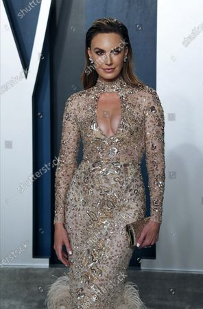 Stock Photo of Elizabeth Chambers attends the 2020 Vanity Fair Oscar Party following the 92nd annual Academy Awards ceremony, in Beverly Hills, California, USA, 09 February 2020. The Oscars are presented for outstanding individual or collective efforts in filmmaking in 24 categories.