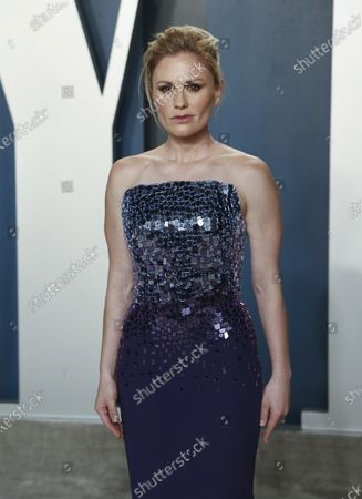 Anna Paquin attends the 2020 Vanity Fair Oscar Party following the 92nd annual Academy Awards ceremony, in Beverly Hills, California, USA, 09 February 2020. The Oscars are presented for outstanding individual or collective efforts in filmmaking in 24 categories.