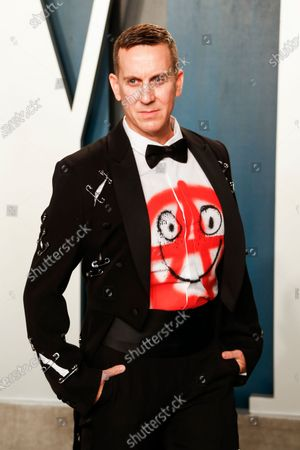 Jeremy Scott attends the 2020 Vanity Fair Oscar Party following the 92nd annual Academy Awards ceremony, in Beverly Hills, California, USA, 09 February 2020. The Oscars were presented for outstanding individual or collective efforts in filmmaking in 24 categories.