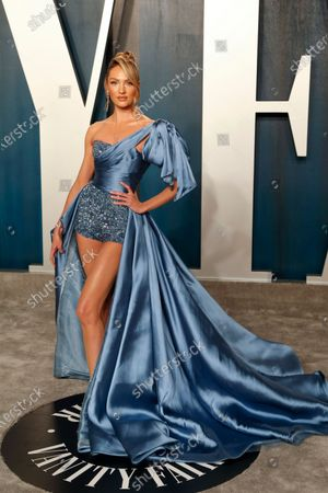 Candice Swanepoel attends the 2020 Vanity Fair Oscar Party following the 92nd annual Academy Awards ceremony, in Beverly Hills, California, USA, 09 February 2020. The Oscars were presented for outstanding individual or collective efforts in filmmaking in 24 categories.