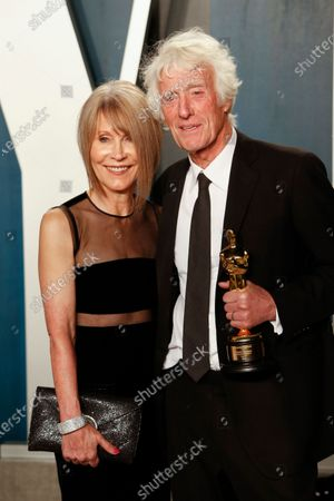 Isabella James Purefoy Ellis (L) Roger Deakins attend the 2020 Vanity Fair Oscar Party following the 92nd annual Academy Awards ceremony, in Beverly Hills, California, USA, 09 February 2020. The Oscars were presented for outstanding individual or collective efforts in filmmaking in 24 categories.