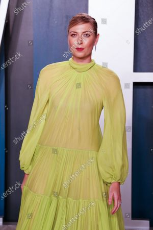 Maria Sharapova attends the 2020 Vanity Fair Oscar Party following the 92nd annual Academy Awards ceremony, in Beverly Hills, California, USA, 09 February 2020. The Oscars were presented for outstanding individual or collective efforts in filmmaking in 24 categories.