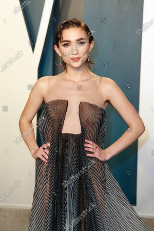 Rowan Blanchard attends the 2020 Vanity Fair Oscar Party following the 92nd annual Academy Awards ceremony, in Beverly Hills, California, USA, 09 February 2020. The Oscars were presented for outstanding individual or collective efforts in filmmaking in 24 categories.