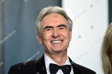 Stock Photo of David Steinberg arrives at the Vanity Fair Oscar Party, in Beverly Hills, Calif