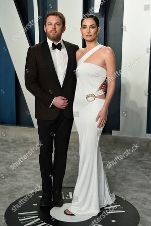Caleb Followill, Lily Aldridge. Caleb Followill, left, and Lily Aldridge arrive at the Vanity Fair Oscar Party, in Beverly Hills, Calif