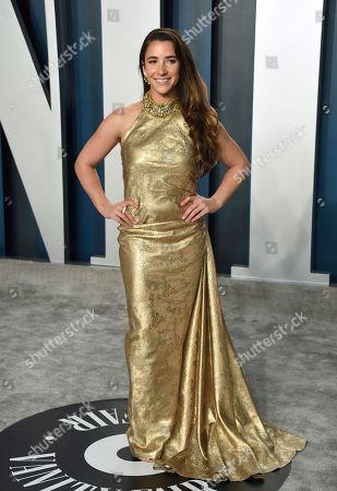 Alexandra Raisman arrives at the Vanity Fair Oscar Party, in Beverly Hills, Calif