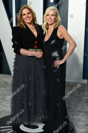 Mary McCormack, Chelsea Handler. Mary McCormack, left, and Chelsea Handler arrive at the Vanity Fair Oscar Party, in Beverly Hills, Calif
