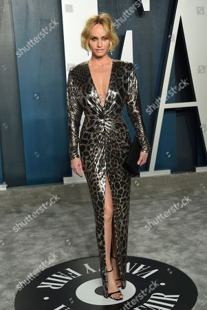Amber Valletta arrives at the Vanity Fair Oscar Party, in Beverly Hills, Calif