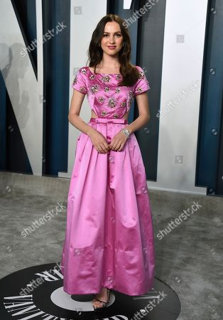 Maude Apatow arrives at the Vanity Fair Oscar Party, in Beverly Hills, Calif
