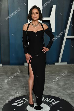 Michelle Rodriguez arrives at the Vanity Fair Oscar Party, in Beverly Hills, Calif