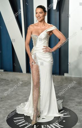 Adriana Lima arrives at the Vanity Fair Oscar Party, in Beverly Hills, Calif