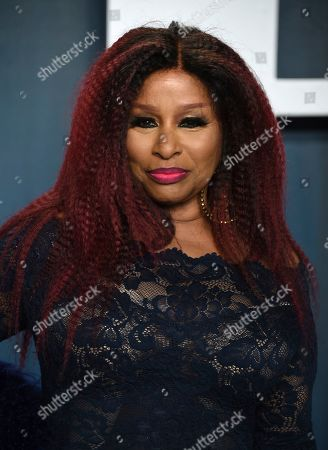 Chaka Khan arrives at the Vanity Fair Oscar Party, in Beverly Hills, Calif