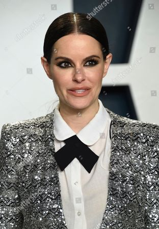 Emily Hampshire arrives at the Vanity Fair Oscar Party, in Beverly Hills, Calif