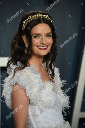 Lydia Hearst arrives at the Vanity Fair Oscar Party, in Beverly Hills, Calif