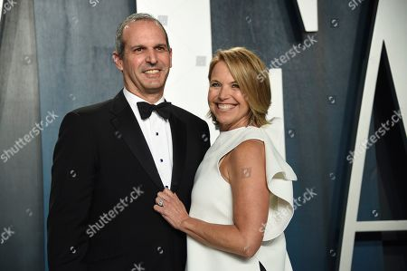 John Molner, Katie Couric. John Molner, left, and Katie Couric arrive at the Vanity Fair Oscar Party, in Beverly Hills, Calif