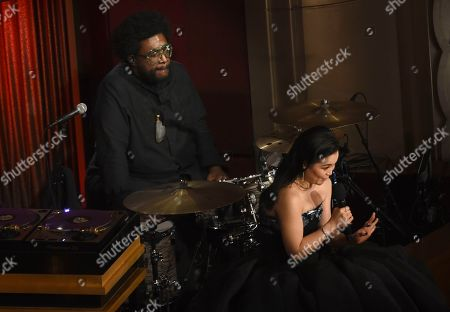 Questlove, Kelly Marie Tran. Questlove, left, and Kelly Marie Tran appear onstage at the Oscars, at the Dolby Theatre in Los Angeles
