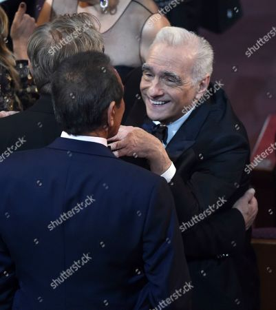 Martin Scorsese appears in the audience at the Oscars, at the Dolby Theatre in Los Angeles