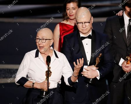 Julia Reichert (L), Steven Bognar and Julie Parker Benellio (B) accept the Oscar for Best Documentary Feature for 'American Factory' during the 92nd annual Academy Awards ceremony at the Dolby Theatre in Hollywood, California, USA, 09 February 2020. The Oscars are presented for outstanding individual or collective efforts in filmmaking in 24 categories.
