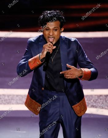 Utkarsh Ambudkar performs during the 92nd annual Academy Awards ceremony at the Dolby Theatre in Hollywood, California, USA, 09 February 2020. The Oscars are presented for outstanding individual or collective efforts in filmmaking in 24 categories.