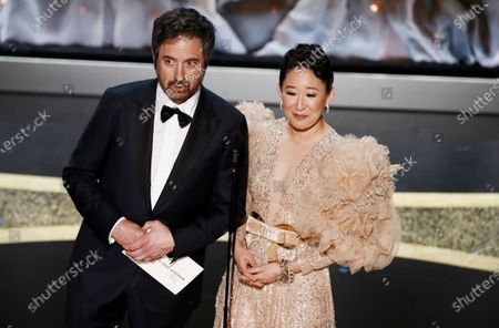 Ray Romano (L) and Sandra Oh present the Oscar for Achievement in Makeup and Hairstyling during the 92nd annual Academy Awards ceremony at the Dolby Theatre in Hollywood, California, USA, 09 February 2020. The Oscars are presented for outstanding individual or collective efforts in filmmaking in 24 categories.