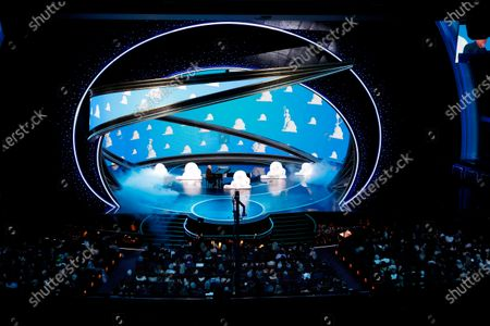 Randy Newman performs during the 92nd annual Academy Awards ceremony at the Dolby Theatre in Hollywood, California, USA, 09 February 2020. The Oscars are presented for outstanding individual or collective efforts in filmmaking in 24 categories.