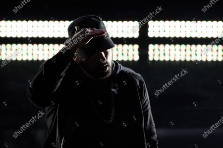 Eminem performs during the 92nd annual Academy Awards ceremony at the Dolby Theatre in Hollywood, California, USA, 09 February 2020. The Oscars are presented for outstanding individual or collective efforts in filmmaking in 24 categories.