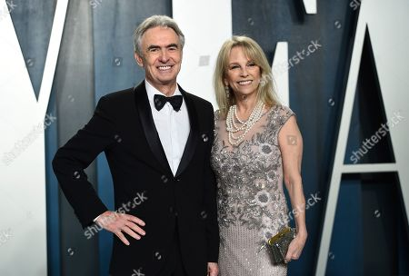 Stock Image of David Steinberg, Robyn Todd. David Steinberg, left, and Robyn Todd arrives at the Vanity Fair Oscar Party, in Beverly Hills, Calif
