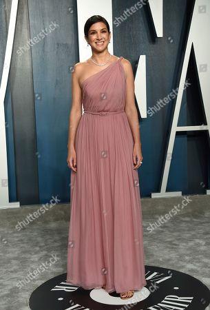 Radhika Jones arrives at the Vanity Fair Oscar Party, in Beverly Hills, Calif