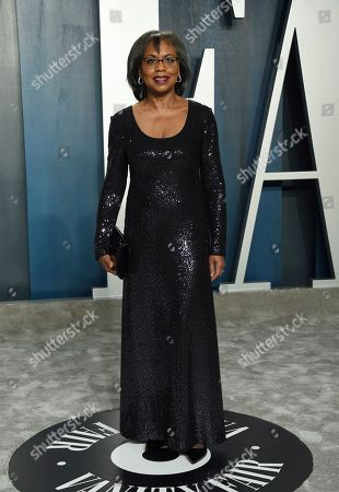 Anita Hill arrives at the Vanity Fair Oscar Party, in Beverly Hills, Calif