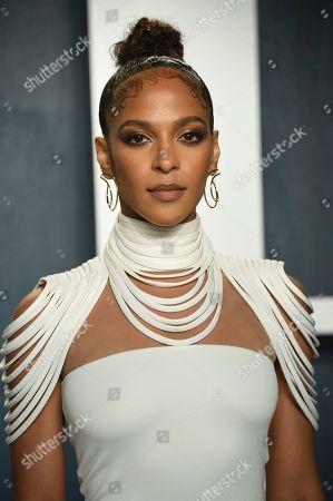 Megalyn Echikunwoke arrives at the Vanity Fair Oscar Party, in Beverly Hills, Calif