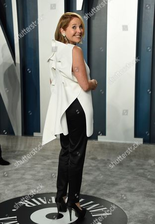 Katie Couric arrives at the Vanity Fair Oscar Party, in Beverly Hills, Calif