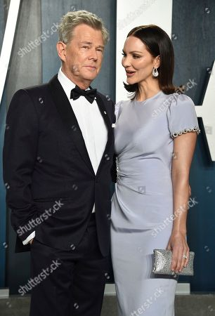 David Foster, Katharine Hope McPhee Foster. David Foster, left, and Katharine Hope McPhee Foster arrive at the Vanity Fair Oscar Party, in Beverly Hills, Calif