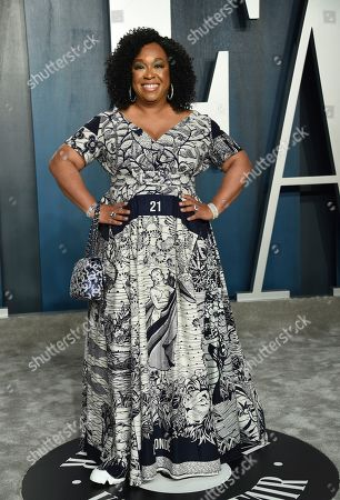 Stock Photo of Shonda Rhimes arrives at the Vanity Fair Oscar Party, in Beverly Hills, Calif