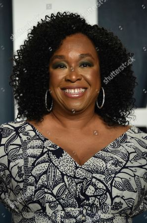 Stock Image of Shonda Rhimes arrives at the Vanity Fair Oscar Party, in Beverly Hills, Calif