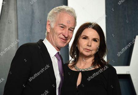 John McEnroe, Patty Smyth. John McEnroe, left, and Patty Smyth arrive at the Vanity Fair Oscar Party, in Beverly Hills, Calif