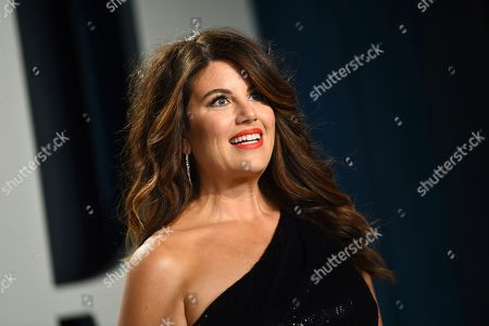 Monica Lewinsky arrives at the Vanity Fair Oscar Party, in Beverly Hills, Calif