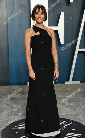 Rashida Jones arrives at the Vanity Fair Oscar Party, in Beverly Hills, Calif