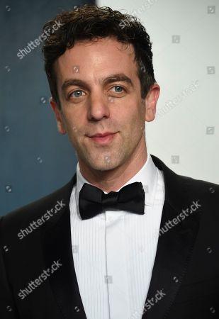 B.J. Novak arrives at the Vanity Fair Oscar Party, in Beverly Hills, Calif