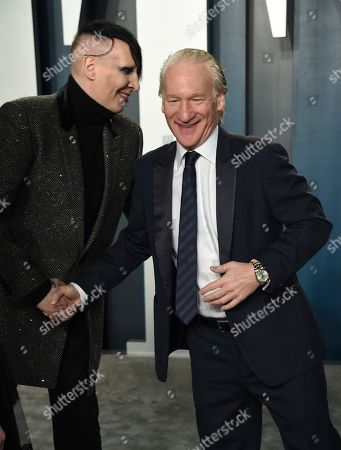 Marilyn Manson, Bill Maher. Marilyn Manson, left, and Bill Maher arrive at the Vanity Fair Oscar Party, in Beverly Hills, Calif
