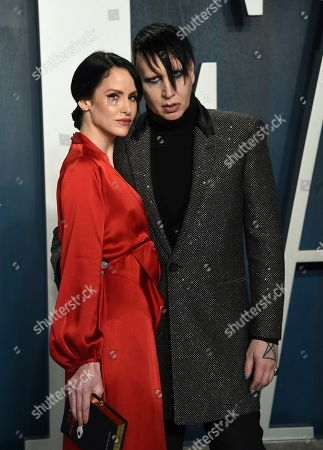 Marilyn Manson, Lindsay Usich. Marilyn Manson, right, and Lindsay Usich arrive at the Vanity Fair Oscar Party, in Beverly Hills, Calif