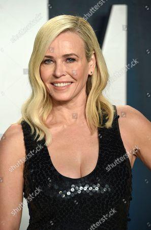 Chelsea Handler arrives at the Vanity Fair Oscar Party, in Beverly Hills, Calif