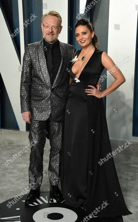 Jared Harris, Allegra Riggio. Jared Harris, left, and Allegra Riggio arrive at the Vanity Fair Oscar Party, in Beverly Hills, Calif