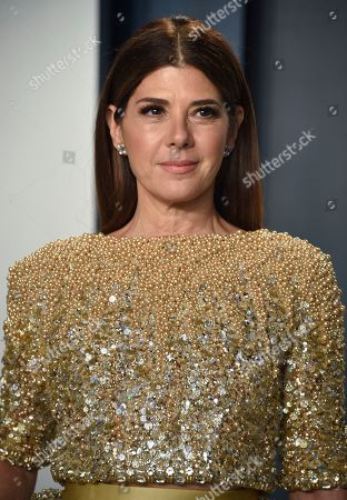 Marisa Tomei arrives at the Vanity Fair Oscar Party, in Beverly Hills, Calif