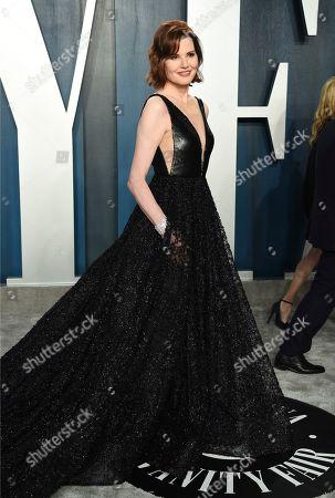 Geena Davis arrives at the Vanity Fair Oscar Party, in Beverly Hills, Calif